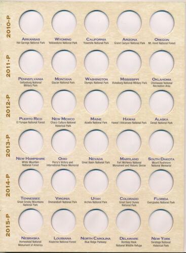 H E HARRIS #2879 DELUXE Coin Folder National Park Quarter 2010-2021 P/&D  Book
