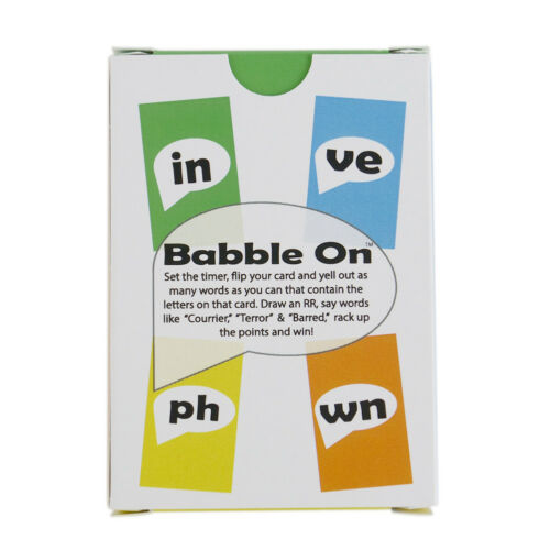 """Babble On The /""""Think of That Word/"""" Card Game!"""