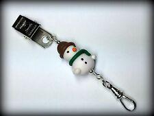 Portuguese Knitting Pin- Snowman- Clip on Pin