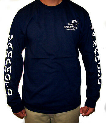 GARY YAMAMOTO LOGO LONG SLEEVE COTTON T-SHIRTS select sizes and colors