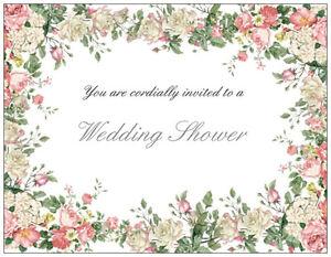 25-Romantic-FLORAL-Country-Vintage-Bridal-WEDDING-Shower-INVITATIONS-amp-ENV-Seals