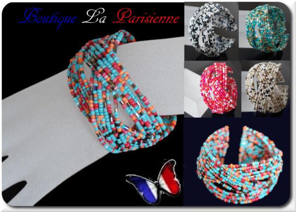 Armschmuck Perlen Armband Paris Ethnischer Armreif Glasperlen Bollywood Rocaill Erfrischend Und Wohltuend FüR Die Augen