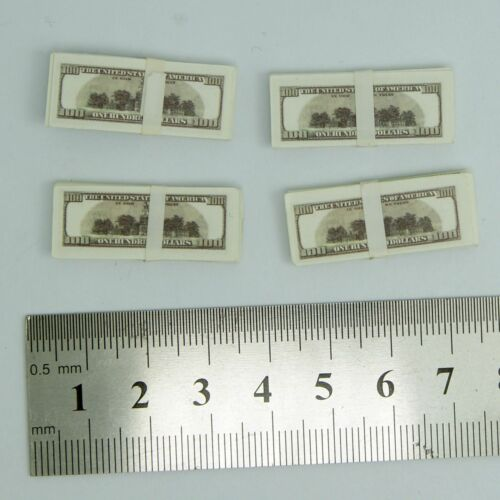 "4 x 1//6 Scale High Quality Cash Dollar Stack Set For 12/"" Phicen Hot Toys Figure"