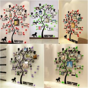 3D-Modern-Acrylic-Flower-Tree-Design-Art-Decal-Wall-Sticker-Home-Room-Decor-HOT