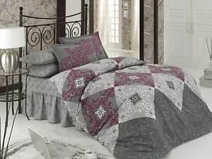 4 tlg bettw sche bettgarnitur bettbezug 100 baumwolle kissen 200x220 cm h rrem ebay. Black Bedroom Furniture Sets. Home Design Ideas