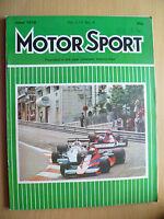 MOTOR SPORT MAGAZINE- JUNE 1978, Vol. LIV, No. 6