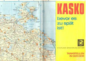 Tankstellenkarte der DDR, 1974