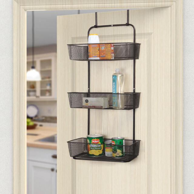 Nex 3 Tier Mesh Basket Hanging Storage Unit Over Door Pantry Rack Organizer For Sale Online Ebay