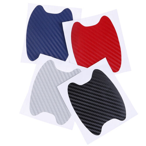 8 Pcs Carbon Fiber Style Car Door Handle Protective Film Stickers F/_X