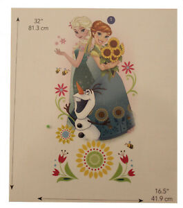 Details about RoomMates Disney Frozen Anna & Elsa - Wandtattoo Wandsticker  ablösbar