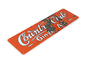 "TIN SIGN ""Country Club Ginger Ale"" Decor Store Shop Market Farm Cottage A311 #"