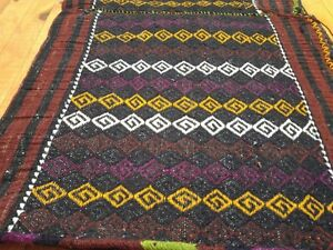 Rugs & Carpets Nice Antique 1900-1939s Kurdish Tribal 1'9''x3'5'' Embroidered Panel Grain Bag 2019 Latest Style Online Sale 50%