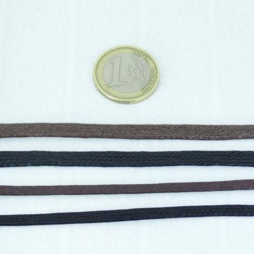 10 Metres Thread Waxed Flat 3,5mm 5mm A808C Waxed Cord Cavo Incerato Fio Wax