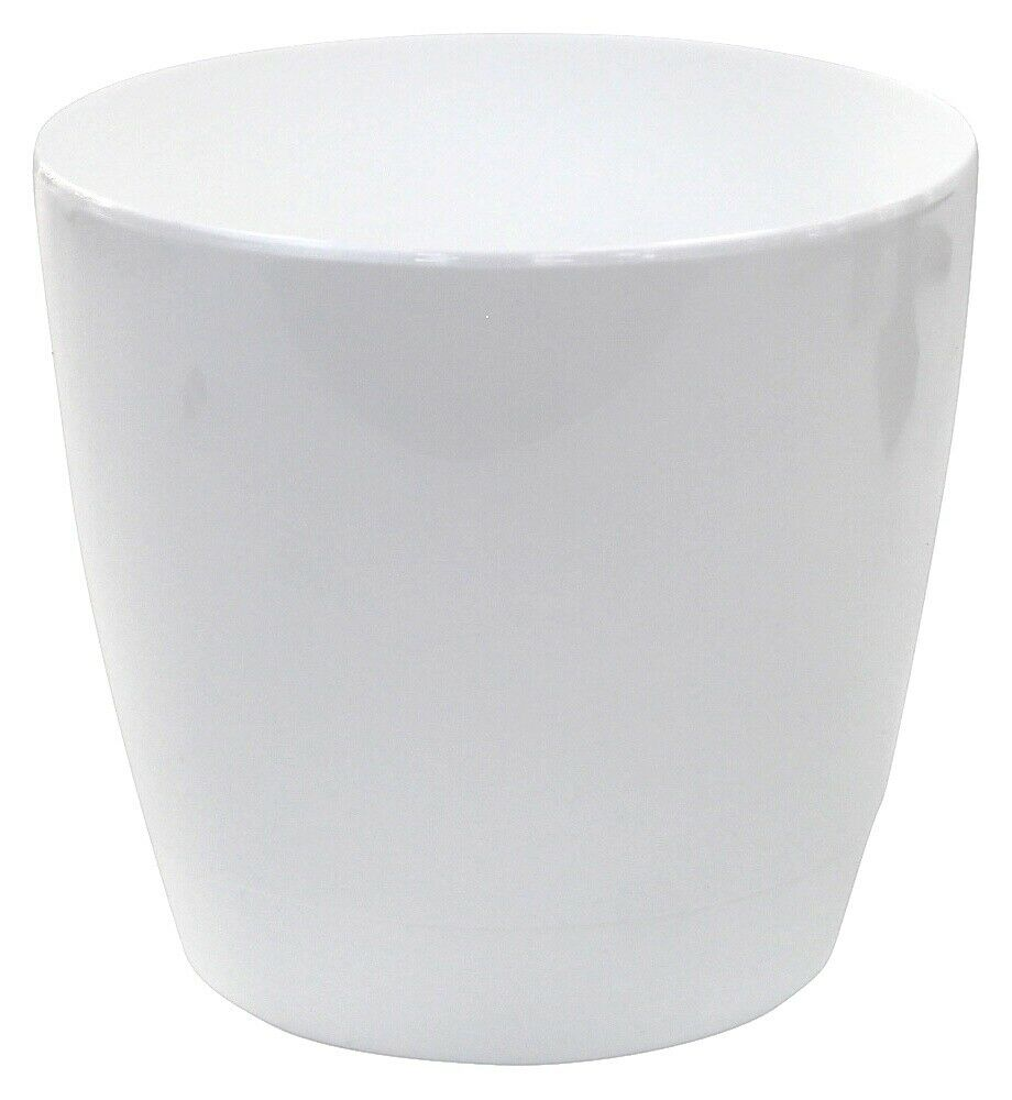 Set Of 4 Indoor / Outdoor Round Large Plant Pots 22cm Planters White
