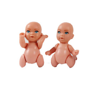 2x-Barbie-Happy-Family-Pregnant-Midge-Baby-Nude-Newborn-Infants-Blue-Eyes-Doll