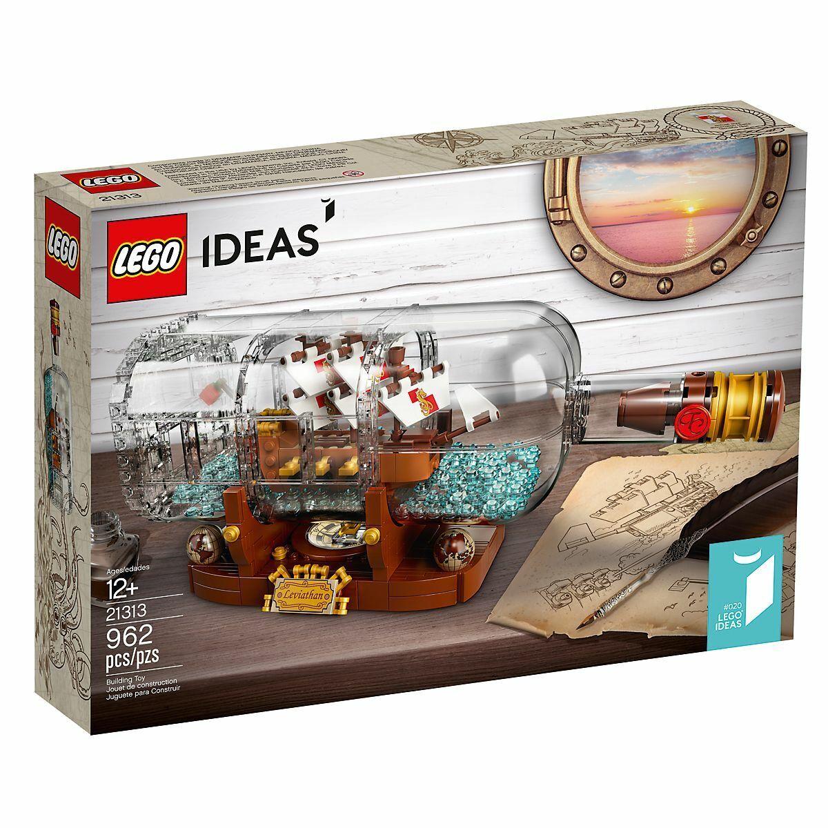 BRe nuovo  FACTORY SEALED LEGO IDEAS CUUSOO 21313 SHIP IN A BOTTLE  rivenditori online