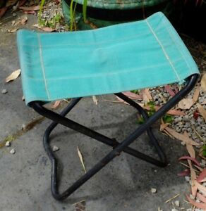 VINTAGE-FOLD-UP-OLD-LINESMEN-STOOLS-RETRO-CAMPING-OUTDOOR-USE