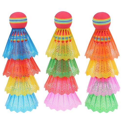 12 PCS Badminton EVA Rainbow Ball Head Nylon Badminton Feathers For Game S  T2P