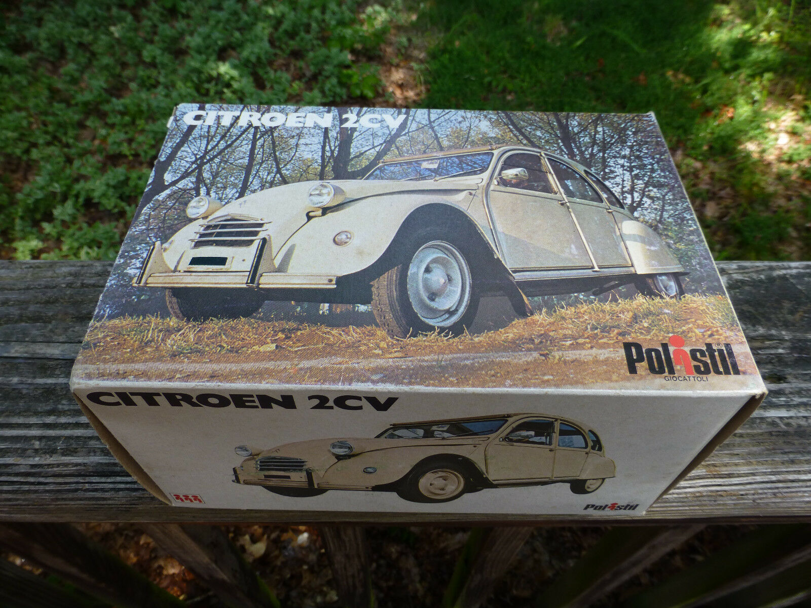 Vintage Polistil Citroen 2CV Coche de juguete Diecast Hecho en Italia & Caja Original