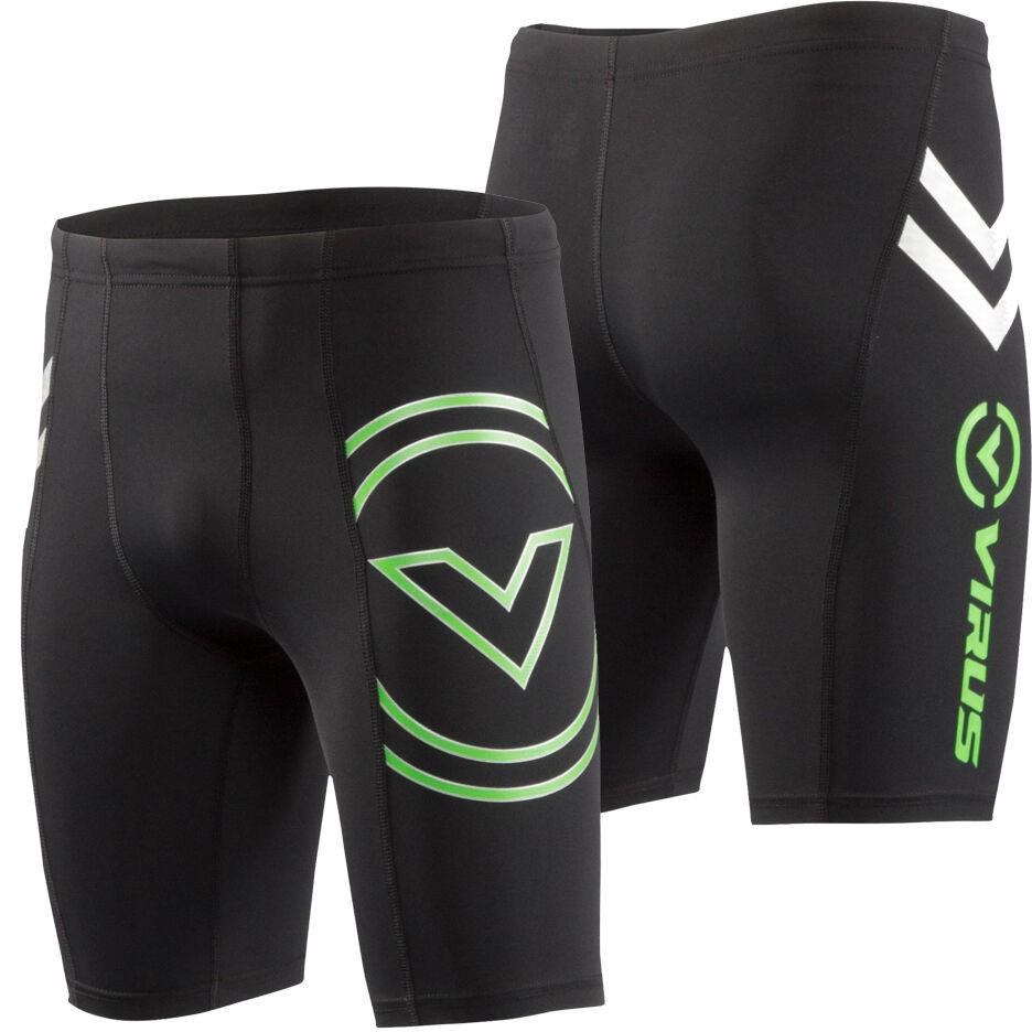 Virus Men's Stay Cool Compression V2 Tech Shorts (Co13) Crossfit BJJ MMA Wrestli