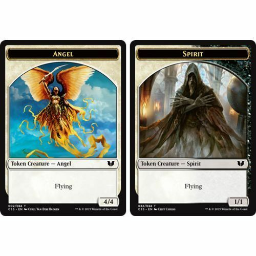 TOKEN Card x4 NM Commander 2015 MTG - //// Spirit Angel 022//024 002//024