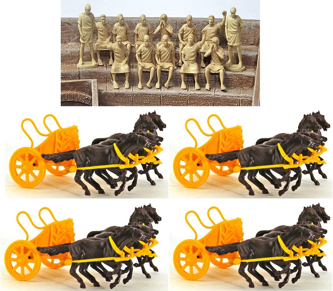 Barzso 13 Romerska åskådare and 4 Marx Chariots Marx färger and poser kan variera
