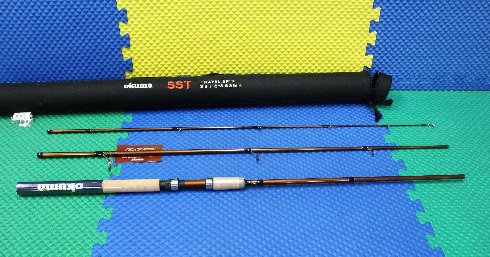 Okuma SST Travel Rod 3-Pc 8' 6   Medium Heavy w Rigid Tube Case SST-S-863MH  fishional store for sale