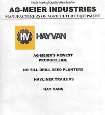 Ag Meier Hayvan New Product Line No Till Drill Seed Planters Hayliner Trailer