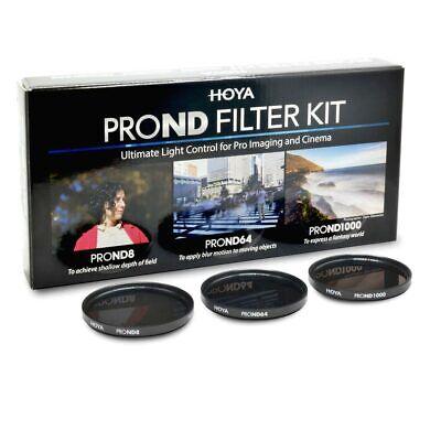 ND Filter Hoya Pro ND Kit Neutral Density Filter 49 mm Practical Set with 3 Different Hoya PRP ND Filters for Light Reduction Long Time Lighting 8//64//1000