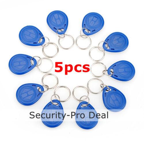 5pcs 125KHz RFID Keyfobs EM4100 TK4100 Proximity ID keyfobs for Access Control