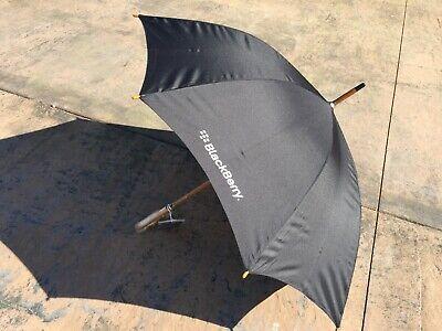 BLACK RIM *Promo*SWAG* ***SALE*** BlackBerry Logo Deluxe Auto-Open Umbrella