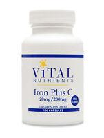 Vital Nutrients Iron Plus C 100 Vcaps
