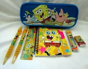 Spongebob Squarepants Yellow Cartoon Set Of 3 Eraser Pencils Pencil Stationery