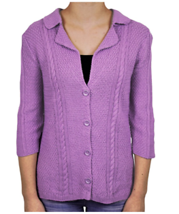 8a142075d1d NEW Heather B Women s 3 4 Sleeve Knit Cardigan