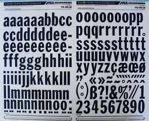 Details about Mecanorma Dry Transfer Lettering Sheet A3 Typo, Fonts 220  Franklin Gothic 34 7mm