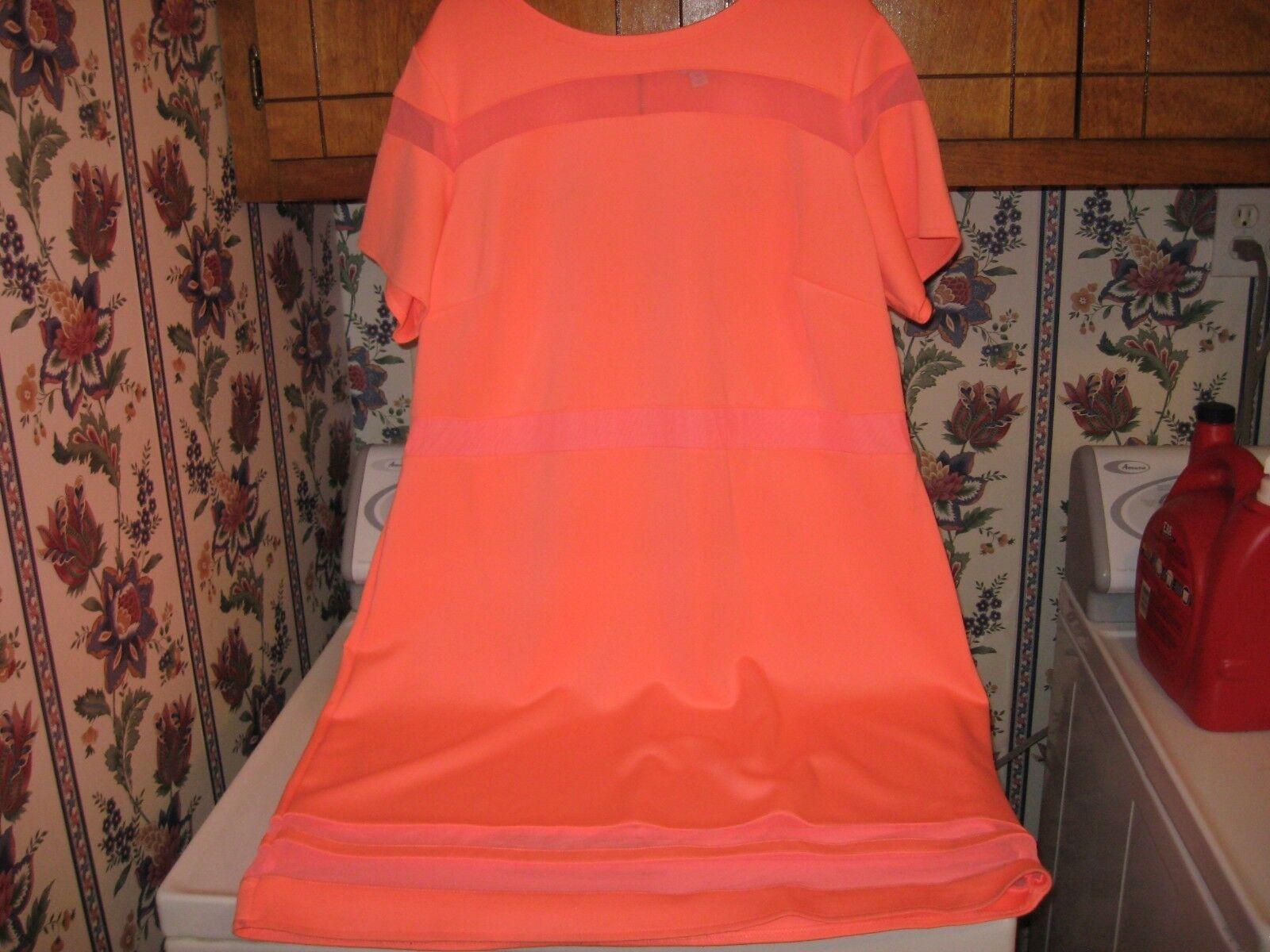 WOMENS DRESS SIZE 3X 24W 22W 20W CORAL orange BODYCON SUMMER DRESS RT. 60.00NEW