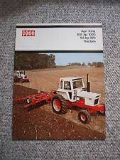 Case 970 1070 Agri King Tractor Color Brochure 20 pg. Original MINT '73