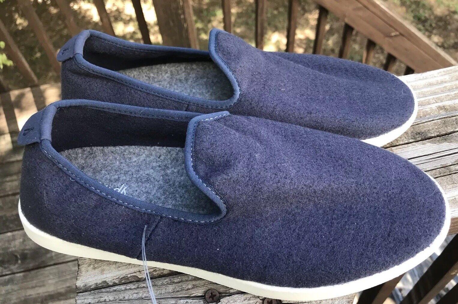Allbirds Navy Wool Loungers Comfort Damenschuhe Größe 10 Navy Allbirds Blau w Cream Sole 743521