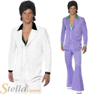 Pour-homme-annees-60-70s-80s-Costume-Disco-Saturday-Night-Fever-Costume-Robe-fantaisie-tenues