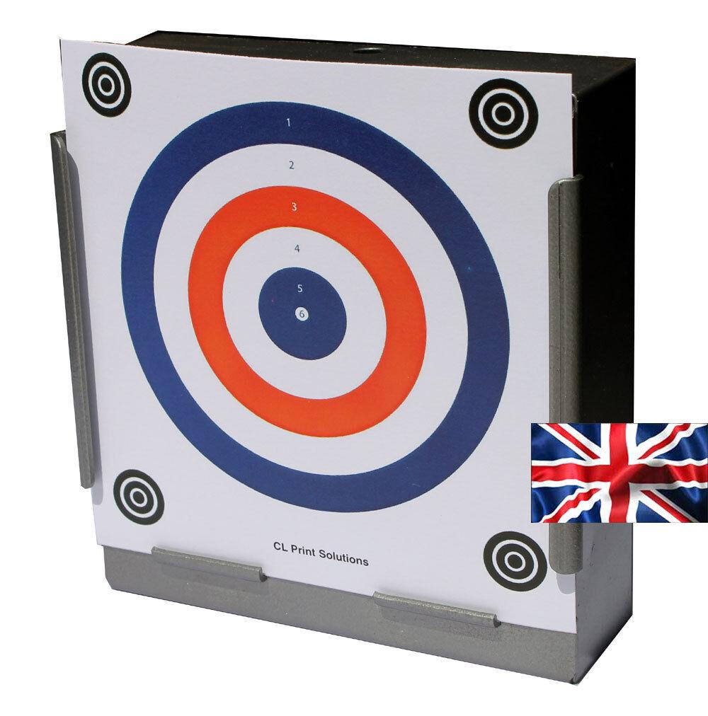 100 x 14 cm Top qualité Air Rifle Pistolet Tir Tir Tir 2 couleur carte cibles (170gsm e33076