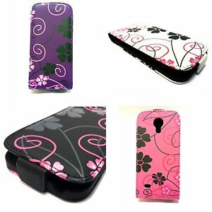 FOR-SAMSUNG-GALAXY-S4-MINI-FLOWER-DESIGN-STYLE-PRINT-PU-LEATHER-FLIP-POUCH-CASE