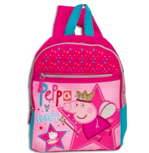 PEPPA PIG Wutz RUCKSACK TASCHE 30 x 24 x 7 cm Kindergarten pink Schwein