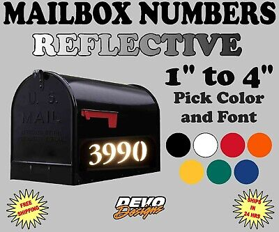 Custom Vinyl Tree Initial Planet Eco Friendly Nature Mail Box Address Numbers Cover Mailbox Decal Set of 2