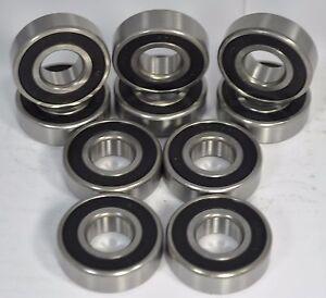 (Qty 10) 608-2RS C3 EMQ Premium Sealed Radial Ball Bearing, 8x22x7mm
