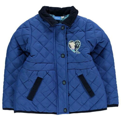 Official Disney Frozen Elsa Blue Padded Quilted Jacket BNWT