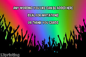 neon party people personalised a6 envelope birthday party