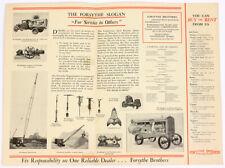 1930s Forsythe Bros Long Island Ny Construction Equipment Sales Brochure