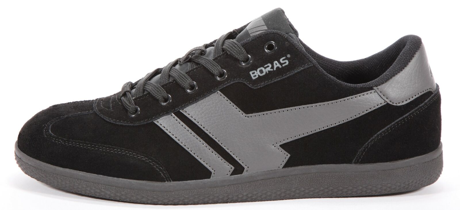 Boras Retro Sports Turnschuhe auch in Übergrößen  Socca  schwarz graphite 3541-1438