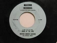 Brother Andrew Saverino 45 HANDS OF THE LORD /ALL RIGHT~VG Detroit pop.religious
