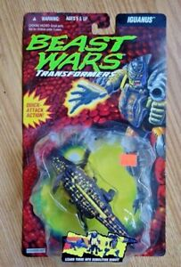 Figure 1995: Action d'attaque rapide d'Iguanus de Transformers de Hasbro Beast Wars